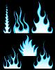 Vector clipart: fire patterns set