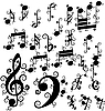 Vector clipart: curled notes set