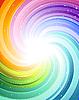 Vector clipart: festive color rays