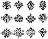 Vector clipart: damask emblem set