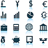 Vector clipart: financial icons set