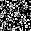 Vector clipart: seamless floral background