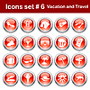 Vector clipart: travel icons set