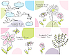 Vector clipart: set of greeting cards