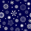 Vector clipart: seamless snowflakes