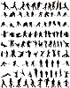Vector clipart: dance and sport silhouettes set