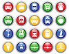 Transportation icons set | Stock Vector Graphics