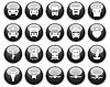 Vector clipart: transportation icons set