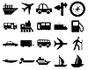Transportation icons set | Stock Vector Graphics