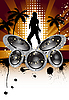 Vector clipart: musical grunge background