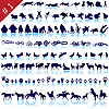Vector clipart: set of animal silhouettes