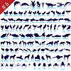 Set of animal silhouettes | Stock Vector Graphics