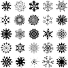 Vector clipart: snowflakes