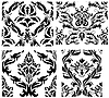 ID 3187027 | Seamless damask patterns set | Klipart wektorowy | KLIPARTO