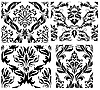 ID 3187029 | Seamless damask patterns set | Stock Vector Graphics | CLIPARTO