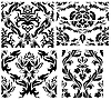ID 3187049 | Seamless damask patterns set | Stock Vector Graphics | CLIPARTO