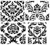 Vector clipart: seamless damask patterns set