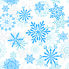 Vector clipart: seamless snowflakes background