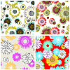 Vector clipart: seamless floral backgrounds set
