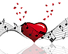 Vector clipart: heart and music notes