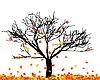 Векторный клипарт: Осенью дерево