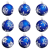 Vector clipart: christmas ball set