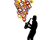 Vector clipart: saxophonist