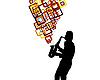 Векторный клипарт: саксофонист