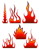 Vector clipart: fire icon set