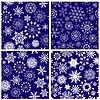 Векторный клипарт: бесшовного фона снежинки