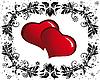 Векторный клипарт: овальная рамка из сердечек