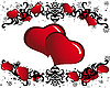 Vector clipart: valentine frame