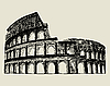 Vector clipart: Roman coliseum
