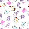 Vector clipart: greeting seamless pattern