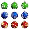 Vector clipart: christmas balls set