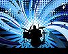 Векторный клипарт: Барабанщик рок-группы