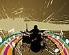 Vector clipart: rock group drummer