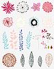 Flower set | Stock Vector Graphics