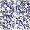 Vector clipart: seamless floral pattern set