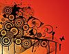 Vector clipart: grunge background with swirls