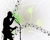Vector clipart: rock guitarist