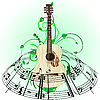 Vector clipart: Musical design with guitar
