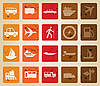 Vector clipart: transportation icons set
