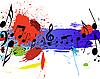 Vector clipart: grunge music notes