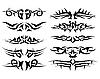 Векторный клипарт: набор тату
