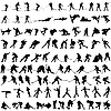 Vector clipart: Set of winter sport silhouettes
