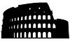 Römischen Kolosseum Silhouette