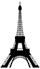 Vector clipart: Eiffel tower silhouette