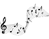 Vector clipart: musical notes