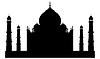 Vector clipart: Taj mahal temple silhouette